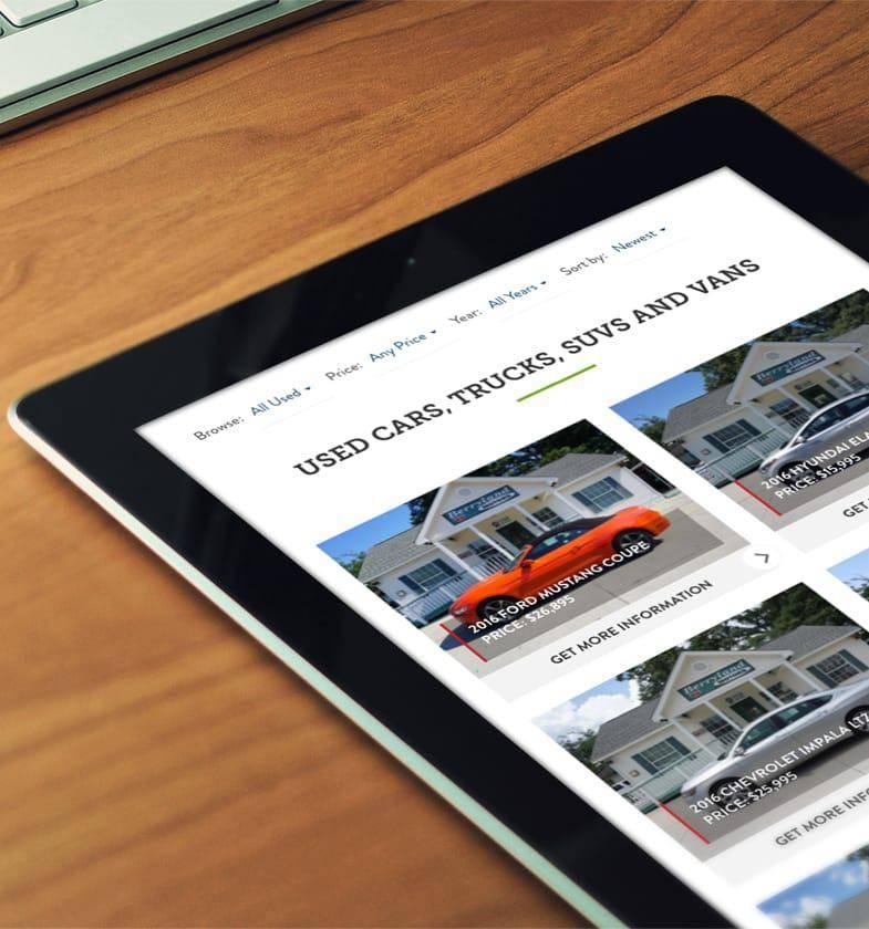 automotive web design seo berryland motors legnd legnd