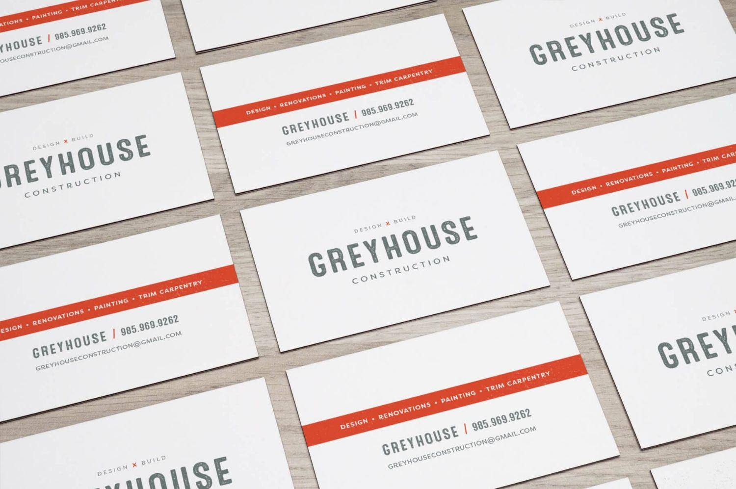 Greyhouse Logo & Branding on a business card design